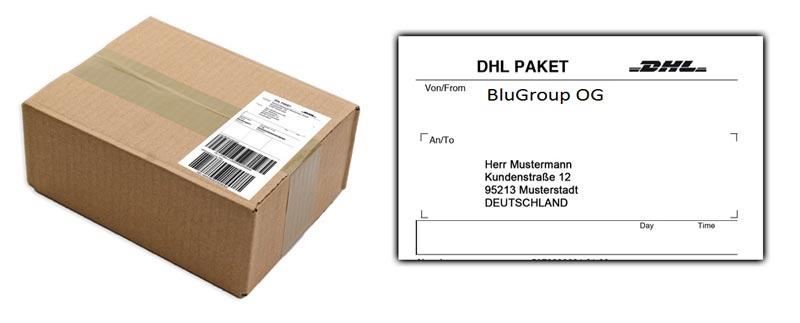 So sehen unsere Paket von Außen aus 100% diskreter neutraler Versand